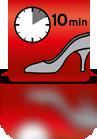 10 Minuten einwirken lassen (Damenschuh)